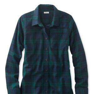 LL Bean scotch plaid shirt